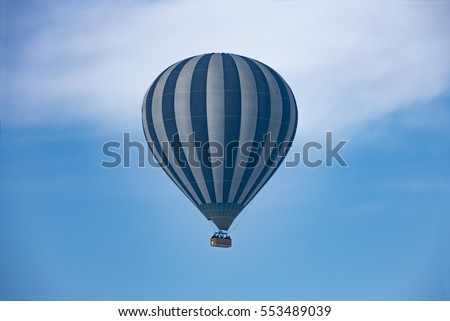Hot air balloon in the sky in Cappadocia Turkey