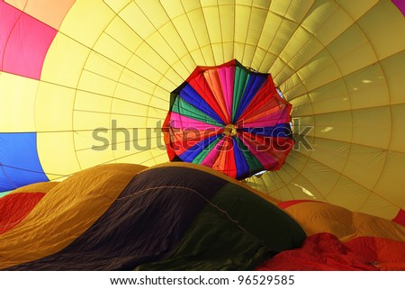 Hot air balloon inside - stock photo