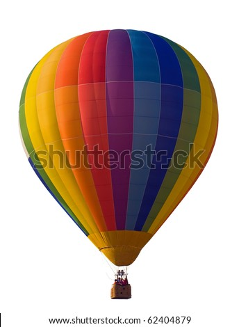 Hot Air Balloon isolated.