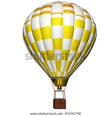 hot air balloon isolated on a white background - stock photo
