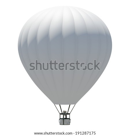 Hot air balloon. Isolated on the white background - stock photo
