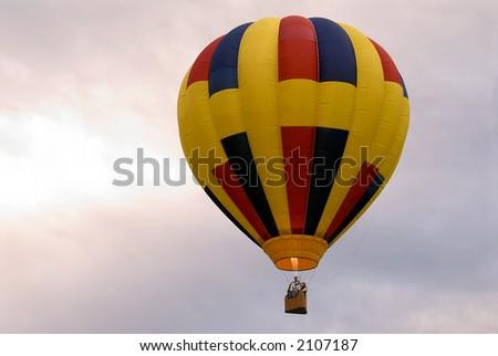 Hot air balloon, photographed at the Shenandoah Vally, Virginia  Hot Air Balloon & Wine Festival. - stock photo
