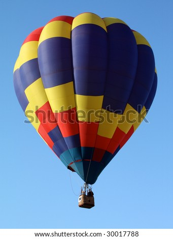 Hot Air Balloon with primary color Pattern - stock photo