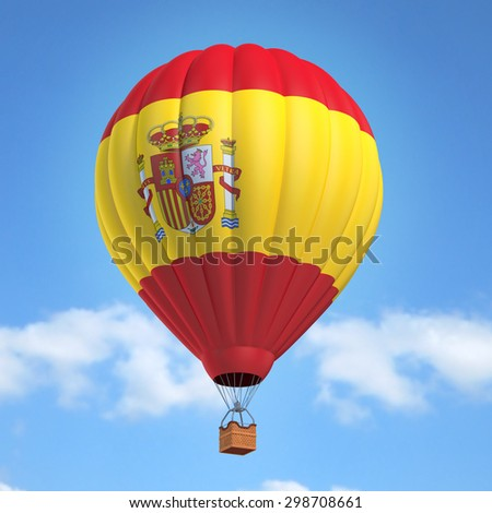 Hot air balloon with Spanish flag