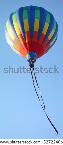 Hot Air Balloon With Streamers - stock photo
