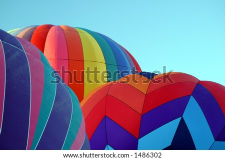Hot Air Ballooning Cold Inflate - stock photo