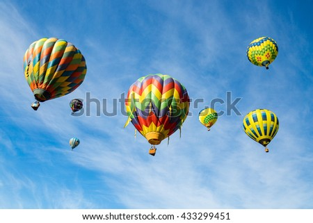 Hot air balloons in Sonoma County