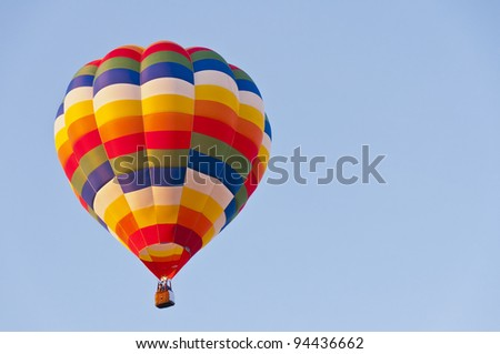 hot air balloons over blue sky
