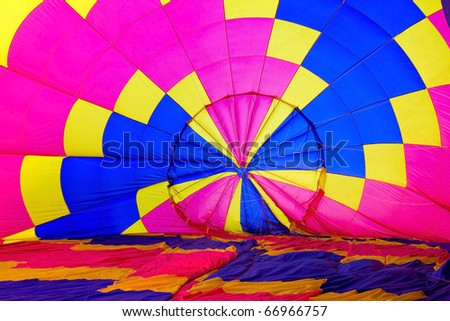 Hot Air Balloons Soaring in a Blue Sky - stock photo