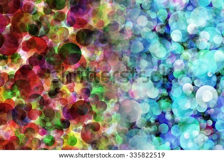 Hot and Cold Bokeh Abstract Background With Illustration - stock photo