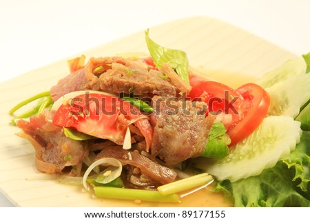 Hot and Spicy Chinese Trotter  salad - stock photo