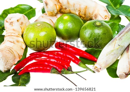 Hot and spicy food ingredient for thai food - stock photo