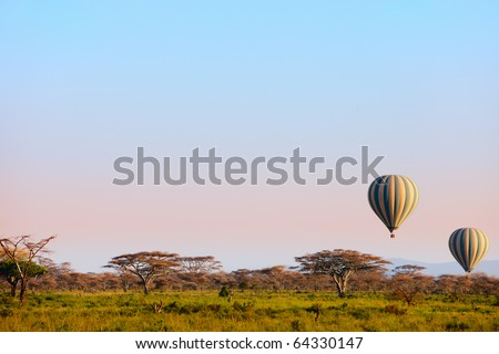 Hot balloon - stock photo