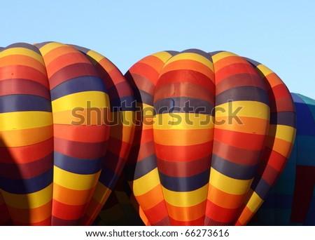 Hot Balloon in Albuquerque Balloon Fiesta - stock photo
