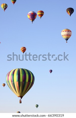 Hot balloon in Albuquerque, New Mexico - stock photo