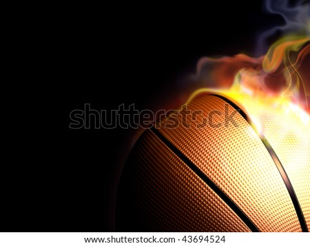 hot basketball - stock photo