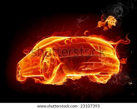 Hot car - stock photo