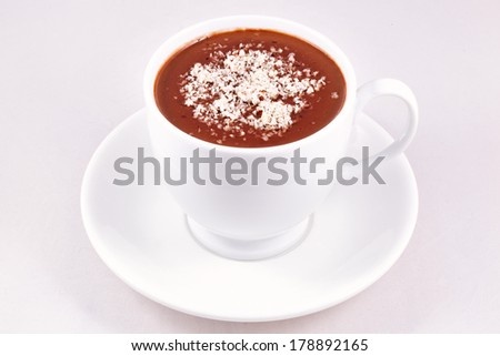 Hot chocolate cup - stock photo
