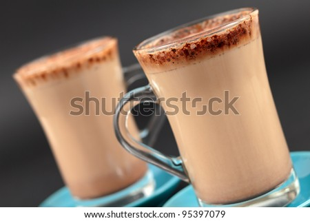 Hot chocolate drinks - stock photo