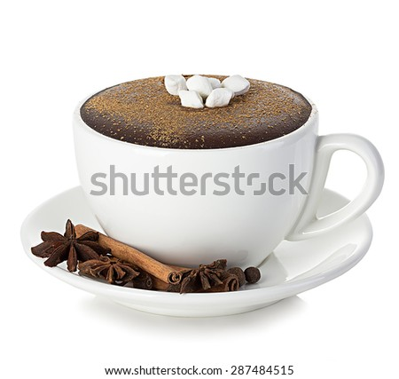 Hot chocolate isolated - stock photo
