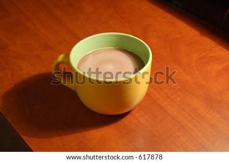 Hot chocolate (swirling) - stock photo