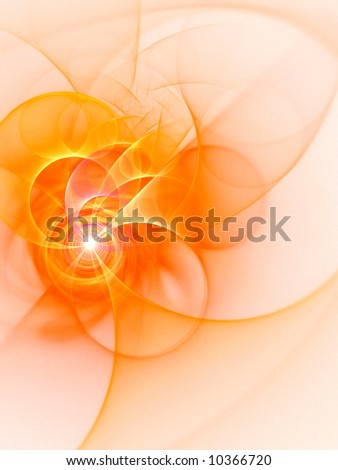 Hot Circles & Arcs - fractal design - stock photo