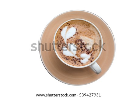 Hot Coffee art motifs heart