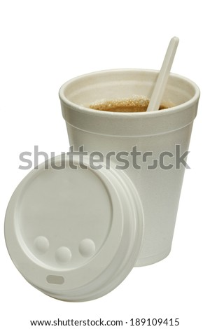 Hot coffee takeaway cup. isolated on white background - stock photo