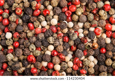 hot cooking spice variation dry small peppercorn
