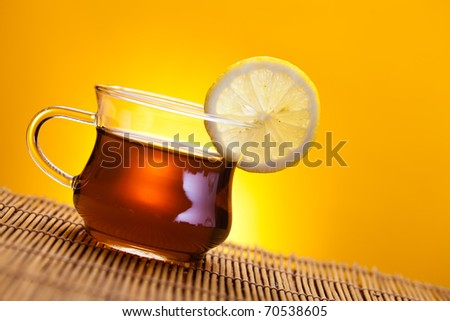 Hot delicious tea - stock photo