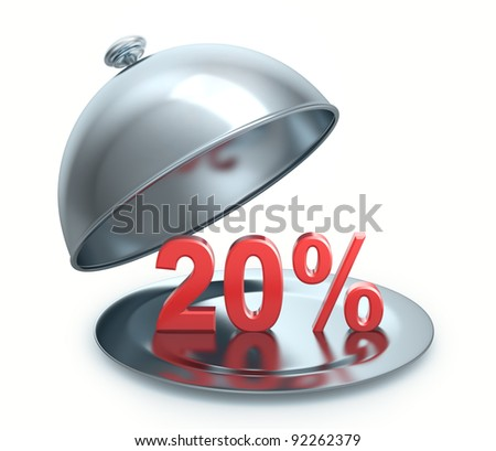 Hot Discount 20 percent, isolated on white background