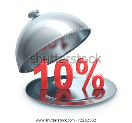 Hot Discount 10 percent, isolated on white background