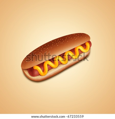 hot-dog - stock photo