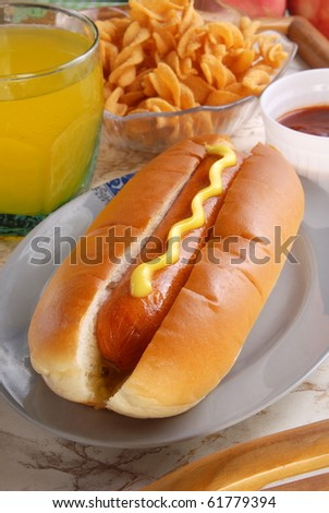 Hot dog bread - stock photo