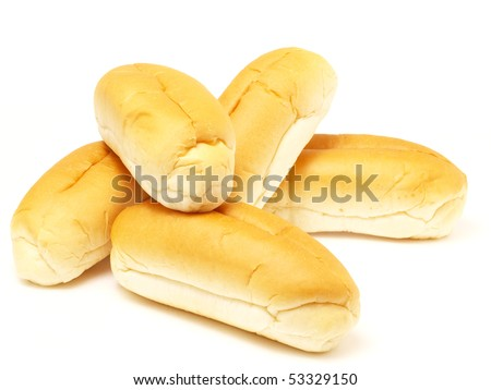 hot dog bun in different angle - stock photo