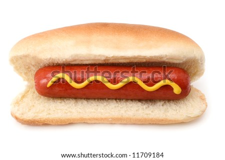 Hot Dog isolated on white - stock photo