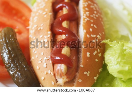 hot dog meal - stock photo