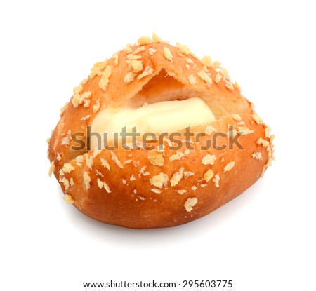 hot dog over white background