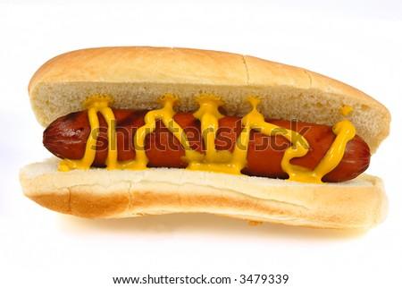 Hot dogs in bun - stock photo