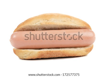 Hot dogs or Wieners isolated on white background