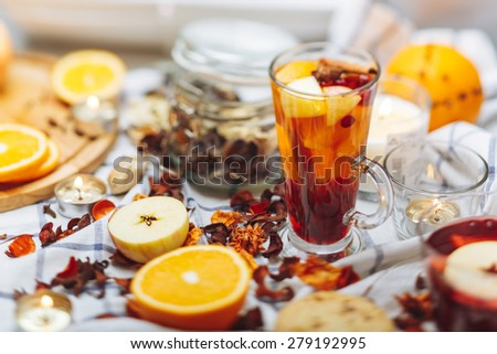 hot drinks - stock photo
