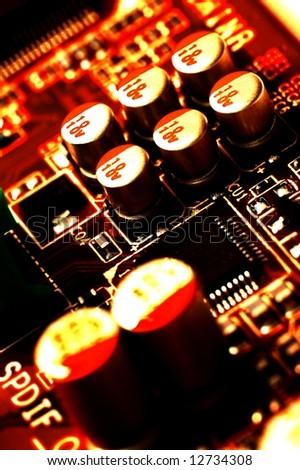 Hot electronics background - stock photo