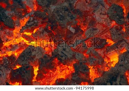 Hot Embers - stock photo