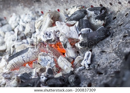 Hot embers - textures - stock photo