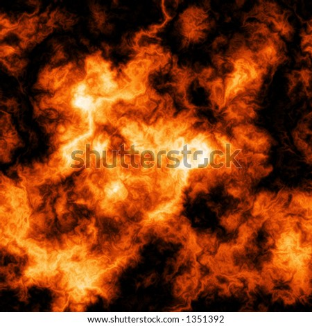 Hot Fire Background Texture - stock photo