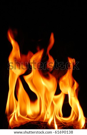 hot fire flame for background - stock photo