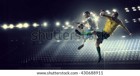 Hot football moments - stock photo
