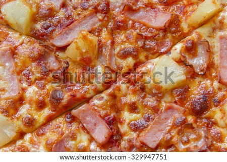 Hot Homemade pizza ready to Eat