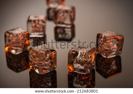 Hot Ice - stock photo