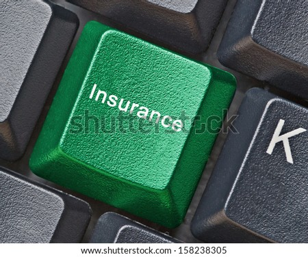 Hot key for insurance - stock photo